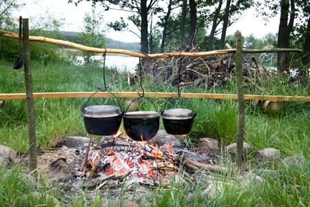 キャンプファイヤーで