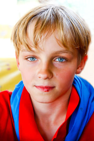 boy with blue eyes portrait Stock Photo