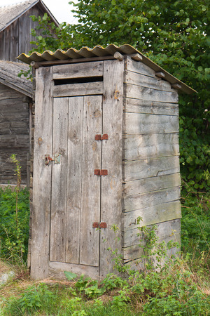 outhouse: And old countryside outhouse. East of Poland. Stock Photo