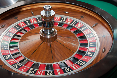 gambling counter: Table for playing roulette in a casino
