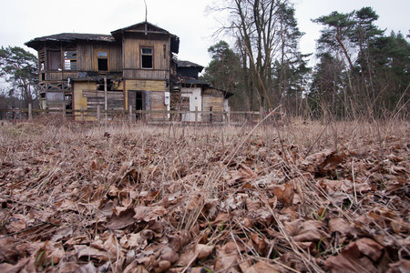 robbed: Old ruined wooden house