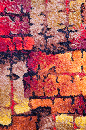 bedspread: Texture, material multicolored cubes as background
