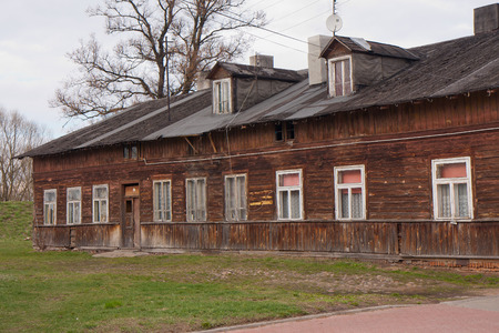 robbed: Nowy Dwor Mazowiecki, Poland- April 02, 2015: Old ruined house in the city centre,  inhabited by many families