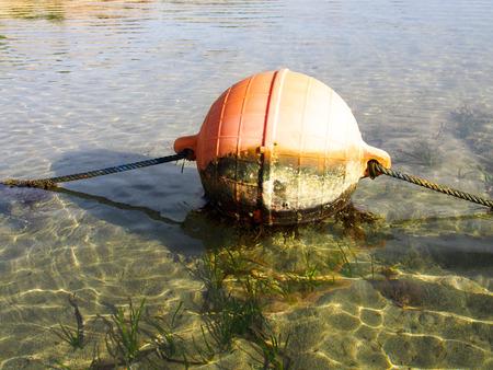 boyas: Boyas redorange enormes que flotan en el agua caliente del oc�ano.