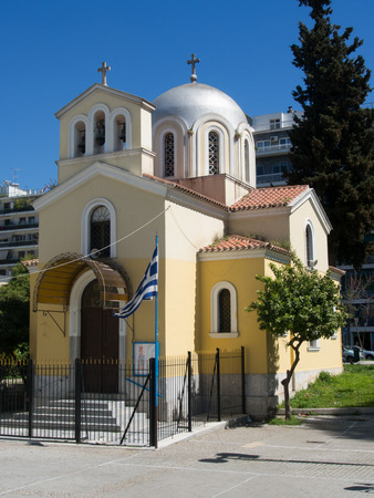 priest: Athens Greece April 03 2015: The newly renovated chapel GreekCatholic Editorial
