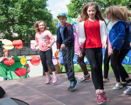 boogie: Otwock, Poland-May 30, 2015: Young dancers dancing and showing  their skills