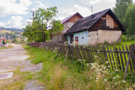 outfield: Old, destroyed homes in the deep Romanian province