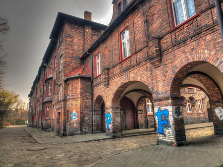 annuities: Katowice, Poland - November 05, 2015: Historic residential Buildings . Mining district of Nikiszowiec Editorial