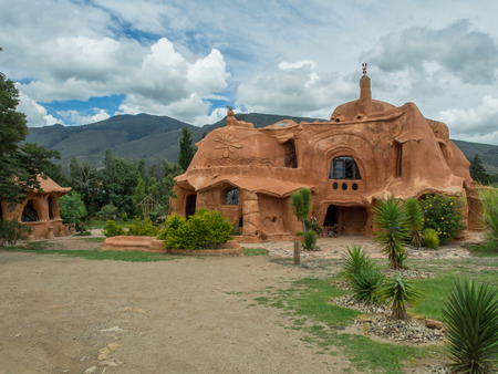 Villa de Leyva, Colombia - May 02, 2016: House of terrakota