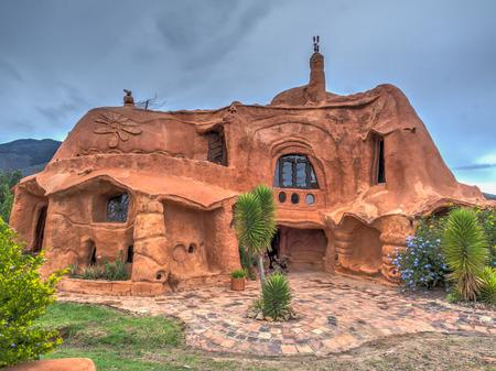 Villa de Leyva, Colombia - May 02, 2016: House of terrakota