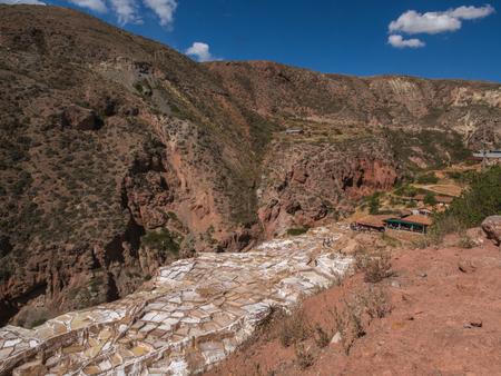 Salina de Maras, the traditional inca salt field in Maras near Cuzco in Sacred Valley, Peru