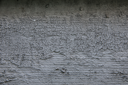 크래킹 건조 페인트로 덮여 나무 판자