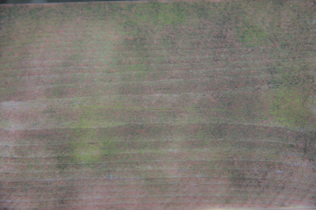 Background. Rustic wooden background with visible grain and green coating Stock Photo