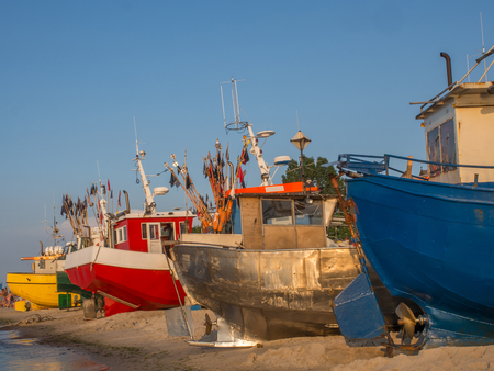 Fishing port in Chlopy, Poland