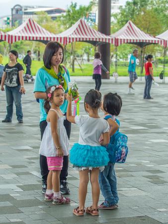 gir: Yilan, Taiwan - October 14, 2016: The Taiwanese youths on a scholl  trip.