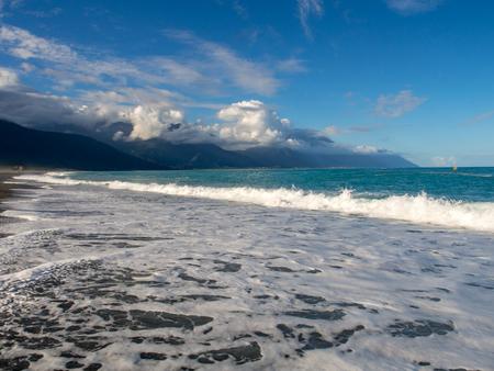 Hualien, Taiwan - October 16, 2016: Beautiful stony beach, Chishintan Beach