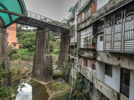 Pingxi, Taiwan - October 05, 2016: Pingxi is a small town in New Taipei. Old Street.
