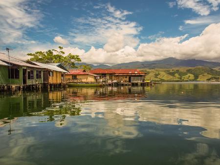 Jayapura, Indonesia - January 24, 2015: The beautiful waters of Lake Sentai