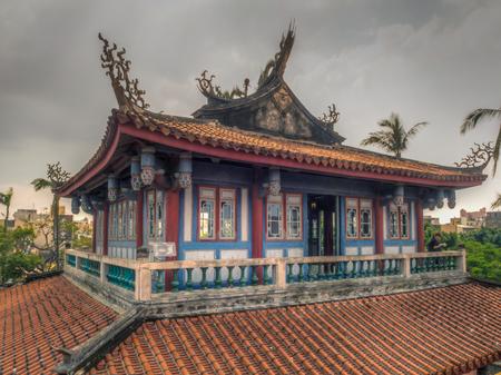 Tainan, Taiwán - 11 de octubre de 2016: Edificio de la torre de Chihkan en Tainan. Complejo de la torre Chihkan construido sobre las ruinas de Fort Provintia (del período colonial holandés). Editorial