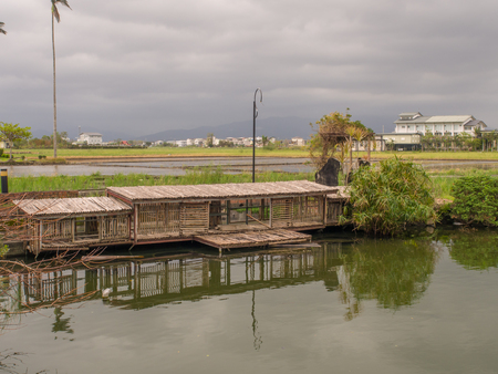 Yilan, Taiwan - October 13, 2016: A small, wooden houses for ducks