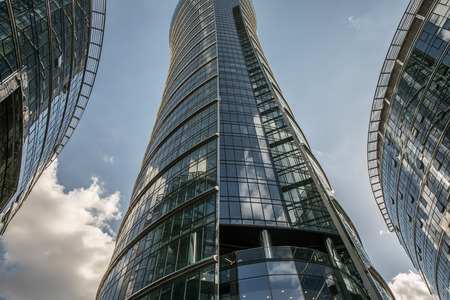 Warsaw, Poland - June 19, 2017: New, glass skyscrapers in Warsaw