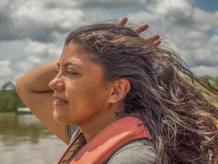 Amazonia, Brazil - December 03, 2017: Portrait of a mature women Éditoriale