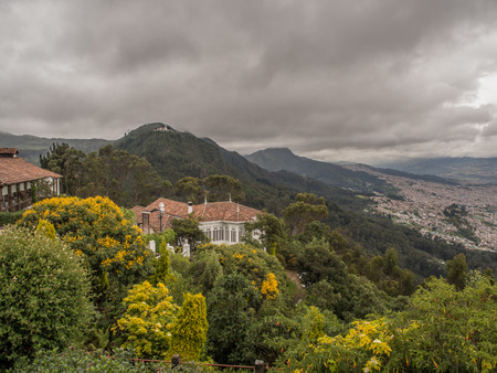 Bogota, Colombia - September 09, 2017: View for Guadalupe from the top of the Monserrate mountain, Bogotá, Colombia, Latin America Stock Photo