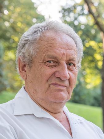 Portrait of older mature man with gray hair Reklamní fotografie
