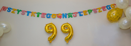 The 99th birthday  celebration number.