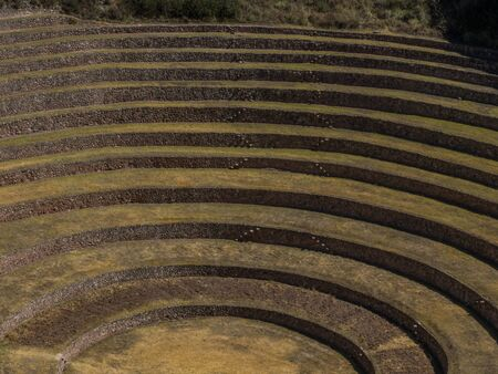 Moray, Incas experimental fields in the peruvian Andes at Cuzco, Peru. South America.
