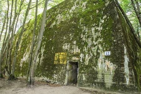 Ketrzyn, Poland July 25, 2019 Wolf's Lair was Adolf Hitler's first Eastern Front military headquarters in World War II. Wolfsschanze, Wolfschanze. Banque d'images - 132984380
