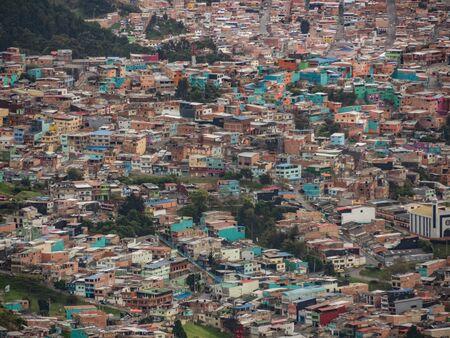 Bogota, Colombia - September 12, 2019:  Part of shanty town in Bogota. South America Stok Fotoğraf - 137489576