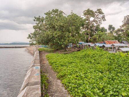 Seram Island, Indonesia - February 11, 2018: Local  cemetery in the small town on Seram Island, Maluku