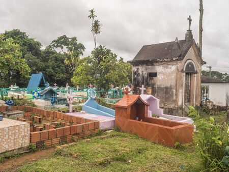 Benjamin Constant, Amazonas,Brazil  - December  1 , 2018: Local  cemetery in Amazonia. South America.