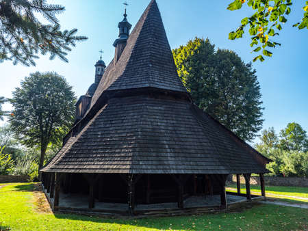 Saints Philip and James Church, SÄ™kowa. Part of the  Wooden Churches of Southern Lesser Poland.