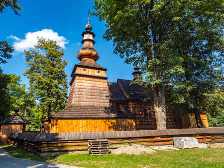 Church St. Michael the Archangel. The Orthodox church was entered in the list of monuments in 1972 and incorporated into the Lesser Poland Wooden Architecture Route. Zdjęcie Seryjne
