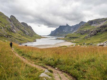 View on the Bunesfjorden, Lofoten, Norway