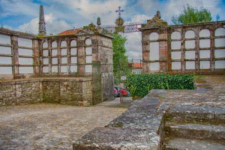 Santiago de Compostela, Spain - Jun 2009: Ancient cemetery, park, Parque de San Domingos de Bonaval.Santiago de Compostela, Galicia, Spain. Europe 免版税图像 - 159204747