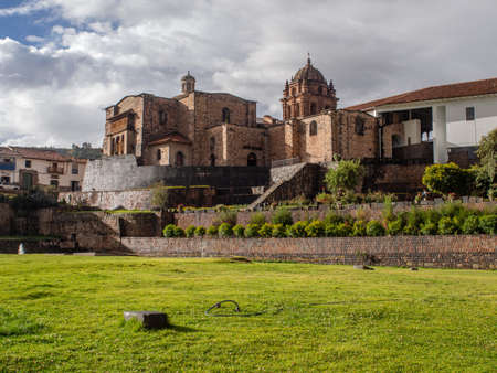 Qurikancha - Inca temple, whose walls and floor were once covered with pure gold. Other name: Coricancha or Inti Kancha or Inti Wasi or Kiswar Kancha or Inca Wiracocha -
