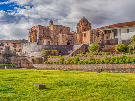 Beautiful view of Qurikancha Inca temple