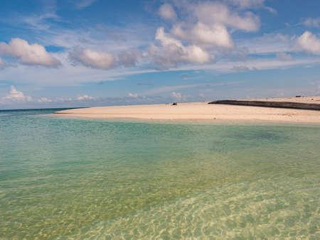 Beautiful tropical beach on the small island, Venu Island, Pulau Venu, near Kaimana, West Papua, Indonesia