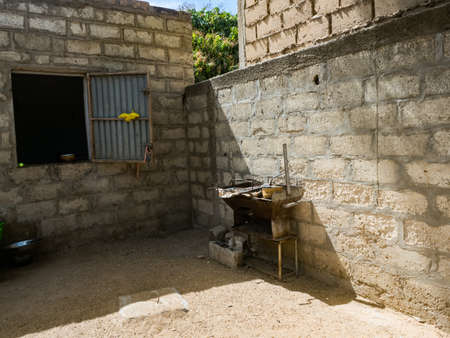 A typical kitchen in a Senegalese house. Senegal. Africa