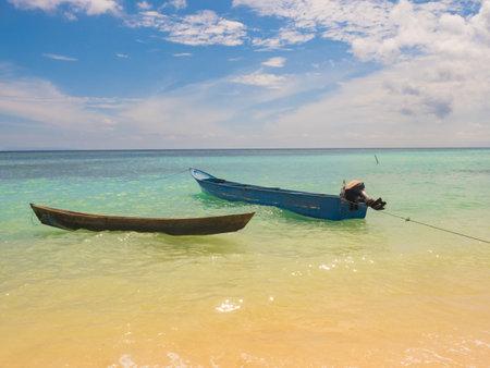 View of beautiful tropical beach on the small island, Venu Island, Pulau Venu, near Kaimana, West Papua, Indonesia