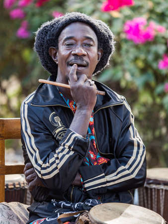 Senegal, Africa - January 24, 2019: Portrait of a black man from Senegal.