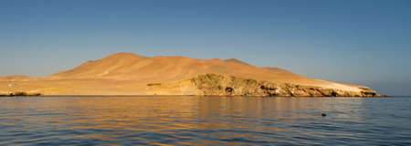 Paracas National Reserve. It is a protected area located in the region of Ica, Peru and protects desert and marine ecosystems for their conservation and sustainable use. Banque d'images