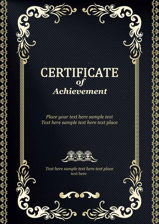 Elegante klassische Zertifikat der Leistung Vintage-Rahmen und Grenze Einfach zu bedienen Standard-Bild - 29808395