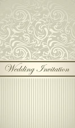 Elegant royal wedding card with light floral design