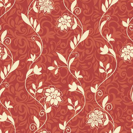 Floral seamless pattern, elegant design Illusztráció