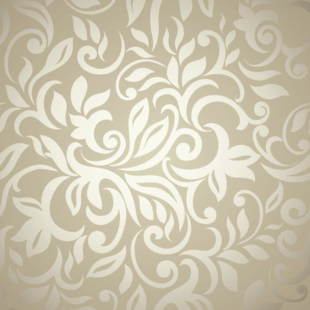 Elegant stylish abstract floral wallpaper  Seamless pattern