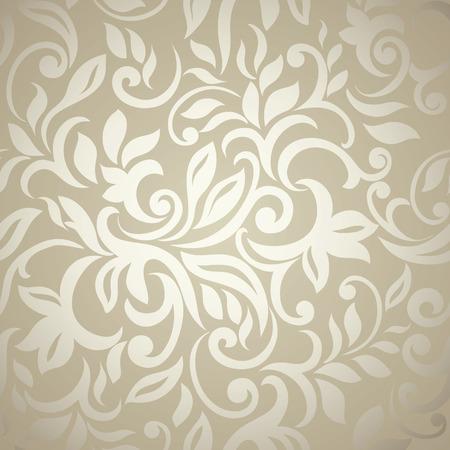 Elegant stijlvolle abstracte bloemen wallpaper Naadloze patroon Stock Illustratie